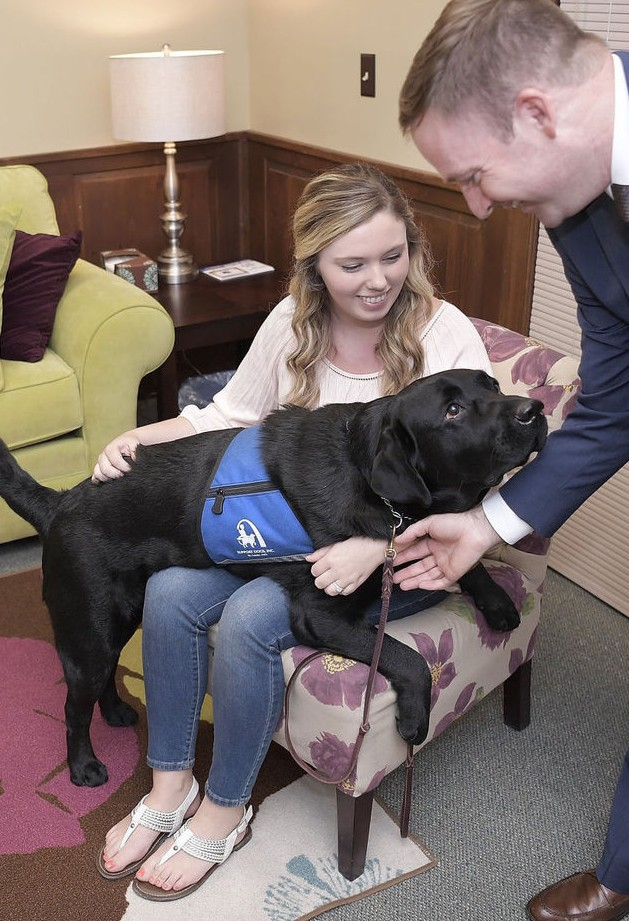 Child abuse victims in Bloomington, Illinois have a new friend to provide love and comfort. Joch (pronounced Jock) is a two-year-old black Labrador and is the first support dog to come to McLean County.